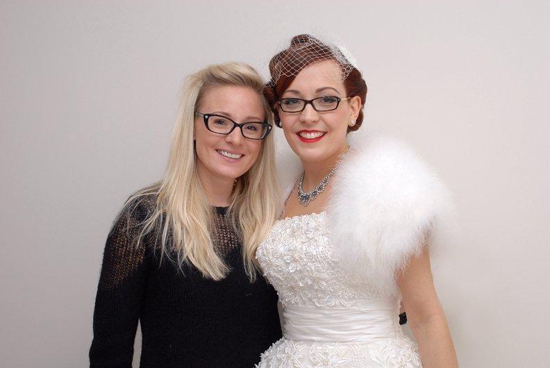 Lucy Jayne and Bride Lisa Fox. kent bride