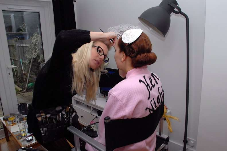 Bridal makeup Behind the scenes