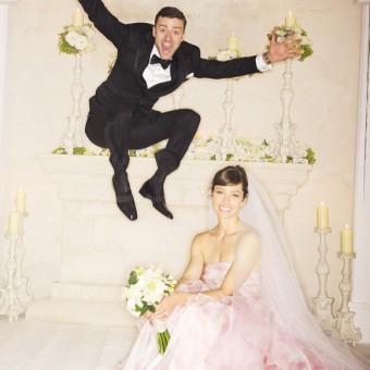 The new Mr & Mrs Timberlake. Love it!