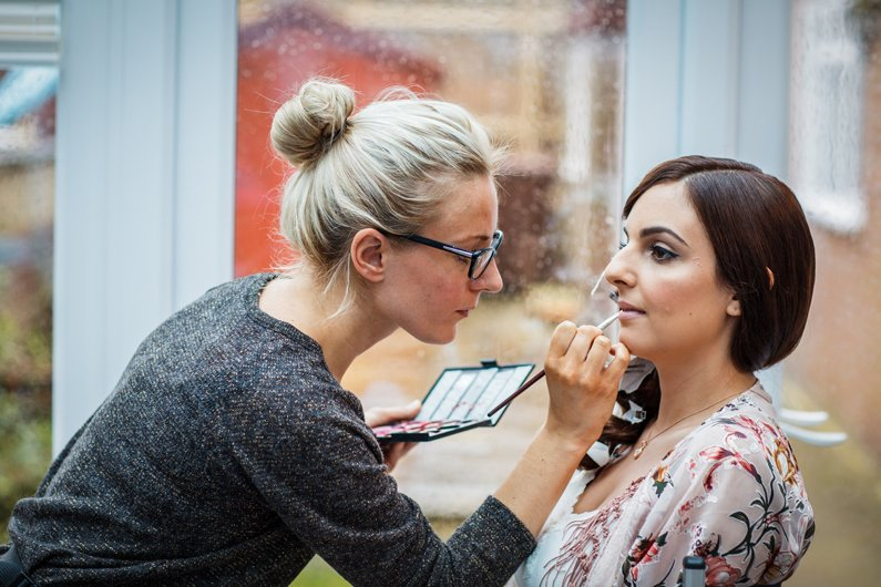 bridal makeup at cooling castle