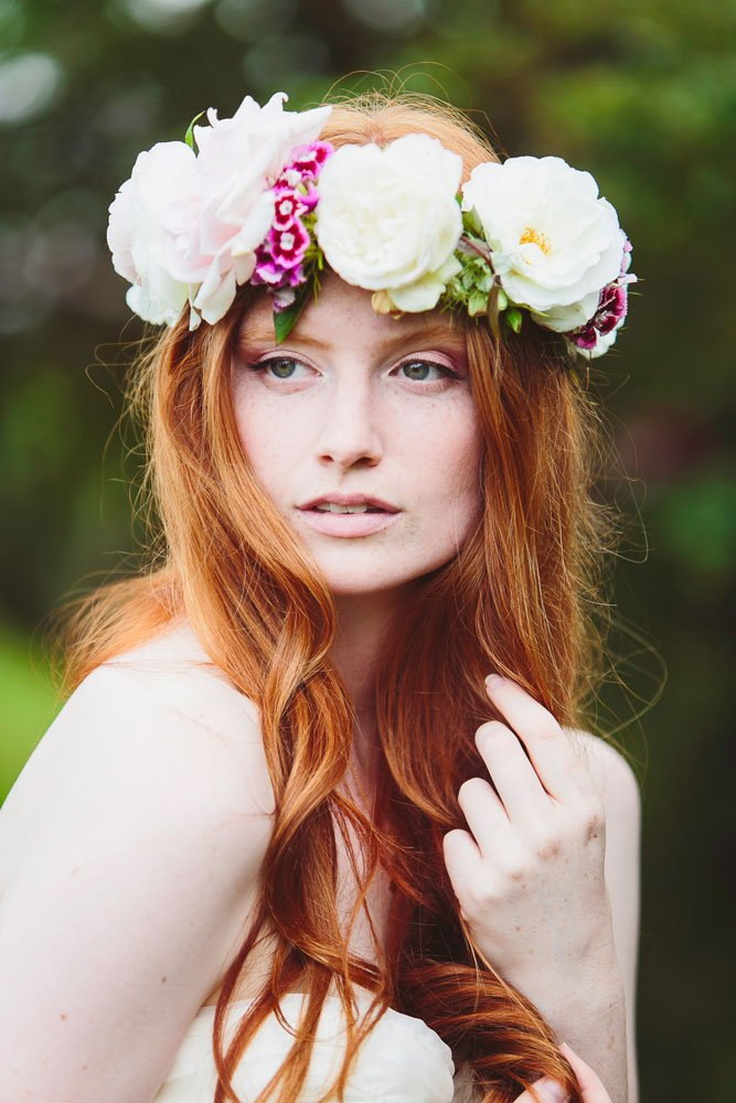 festival bridal makeup at the house meadow