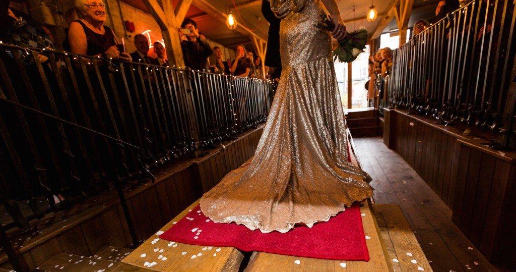 gold wedding dress wilden bride