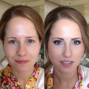 Before and after bridal makeup by lucy jayne
