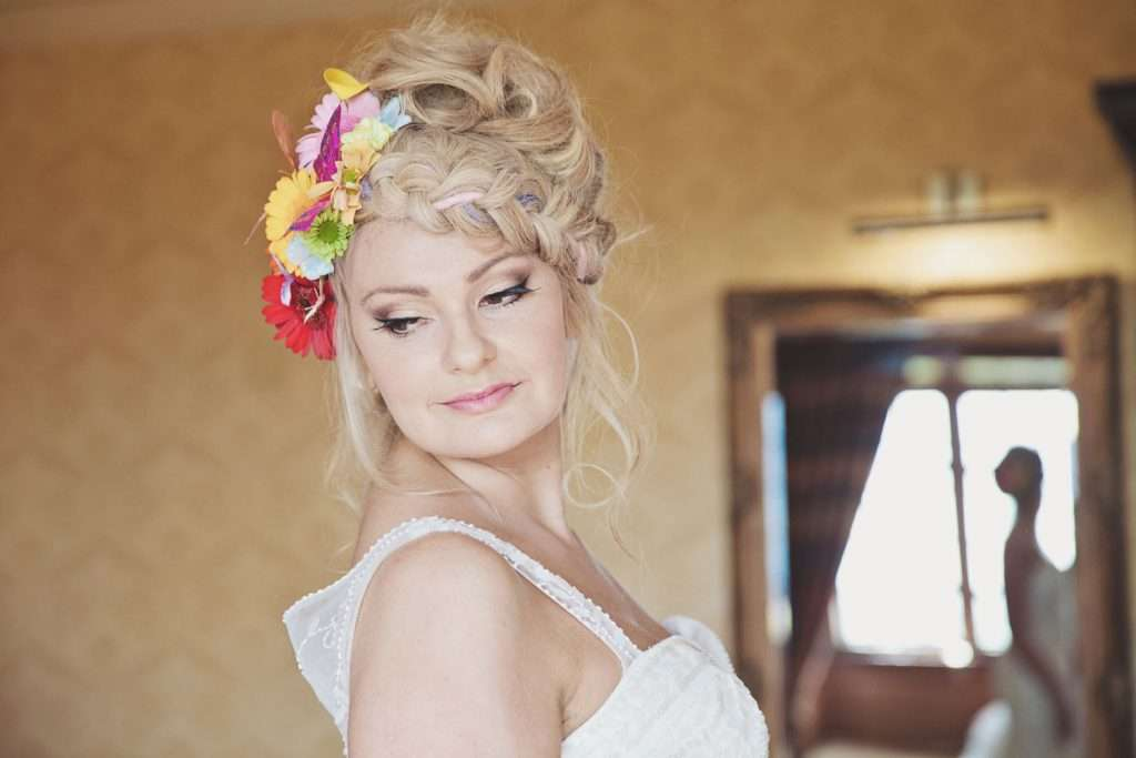 contemporary bridal makeup