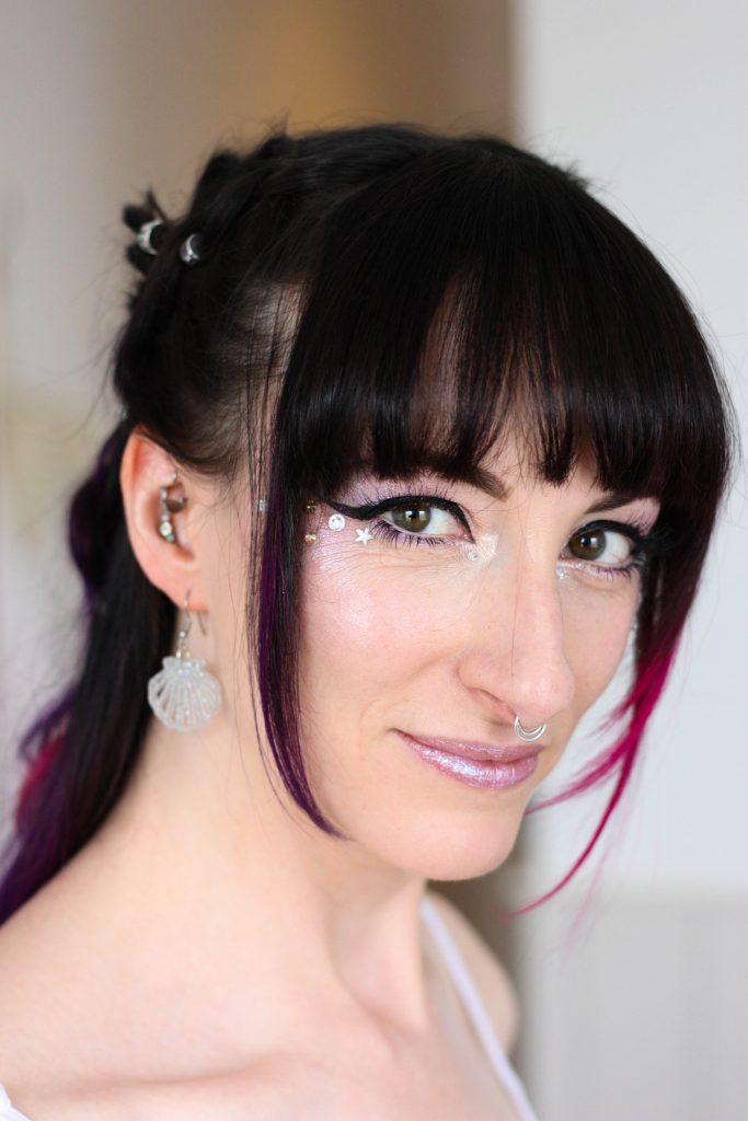 alternative bridal makeup